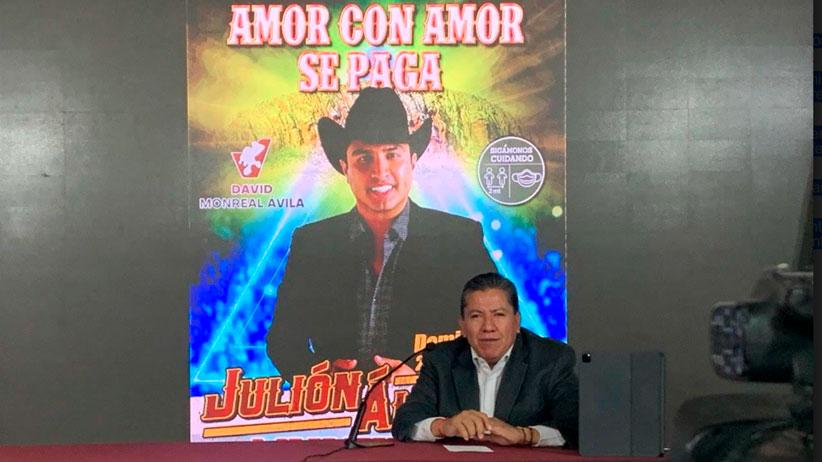 Anuncia David Monreal torneo nacional charro y concierto de Julión Álvarez