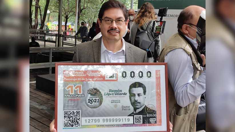 Develan billete de lotería conmemorativo al centenario luctuoso de Ramón López Velarde