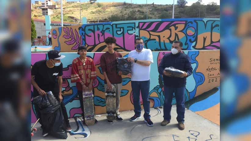 Rehabilitan Skate Park del Parque Marcha Zacatecas