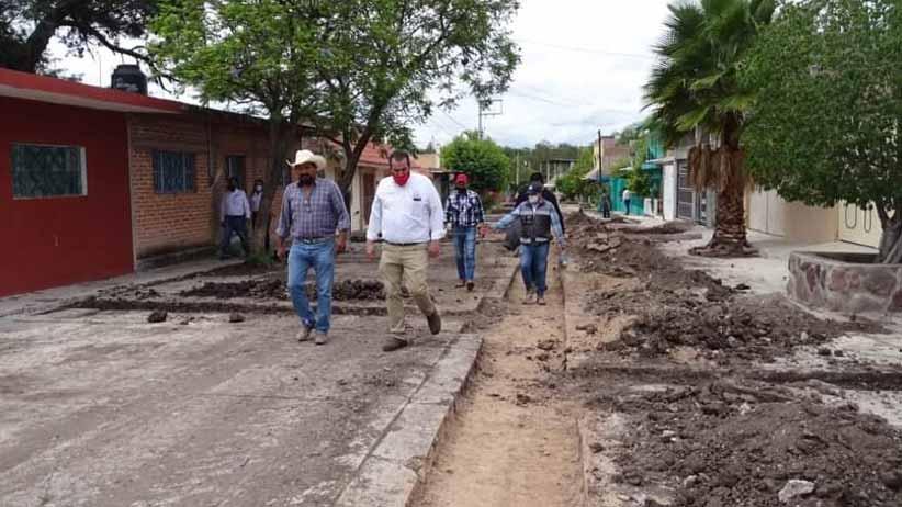 Avanza reconstrucción y ampliación del sistema de alcantarillado sanitario de Huanusco