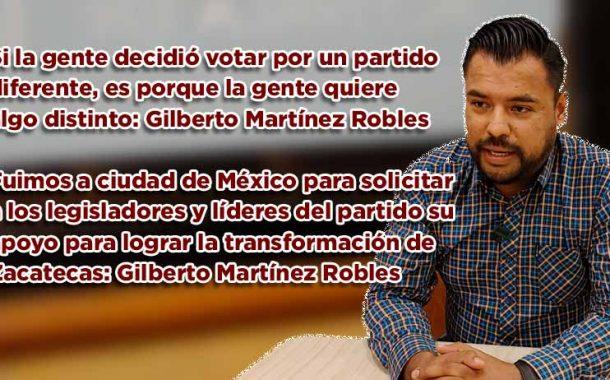 Si la gente decidió votar por un partido diferente, es porque la gente quiere algo distinto: Gilberto Martínez Robles (video)