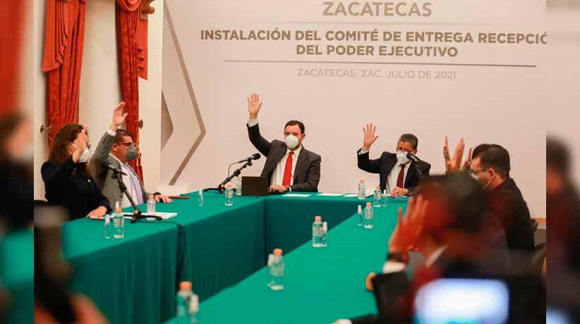Realizan instalación del Comité de Entrega-Recepción de la administración estatal