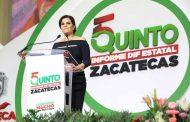Cristina Rodríguez  de Tello rinde su quinto y último Informe de labores al frente del SEDIF Zacatecas