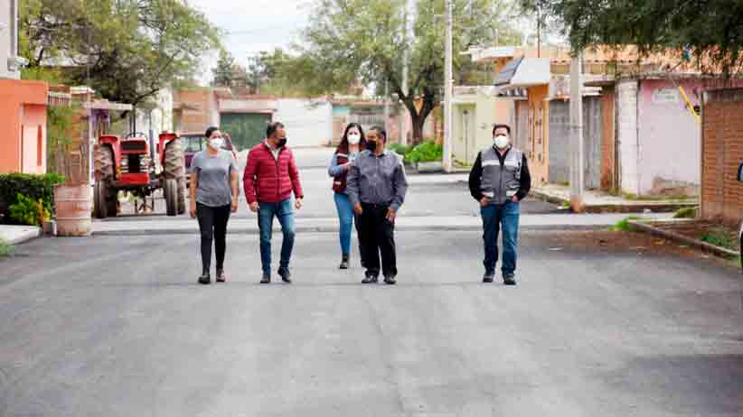 Municipio de Guadalupe reencarpeta calles en la comunidad de Tacoaleche
