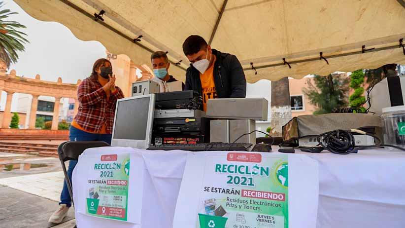 El ayuntamiento de Fresnillo realiza el programa reciclón 2021 para acopiar la basura electrónica