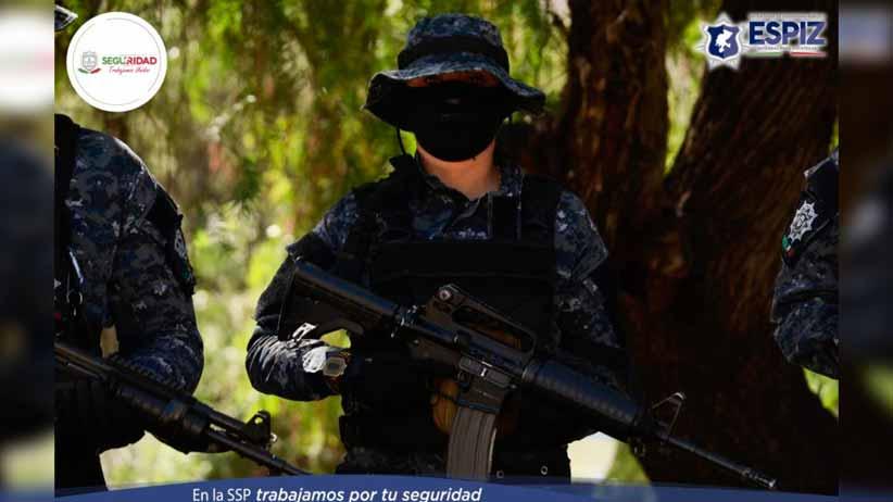 En Villa González Ortega, PEP detuvo a tres por posesión de más de 6 kilos de probable marihuana
