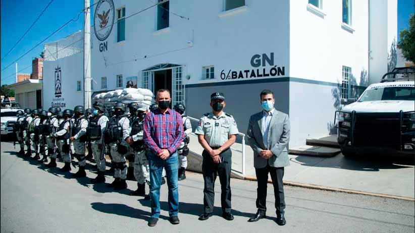 Reanuda actividades GN en la comunidad de Tacoaleche
