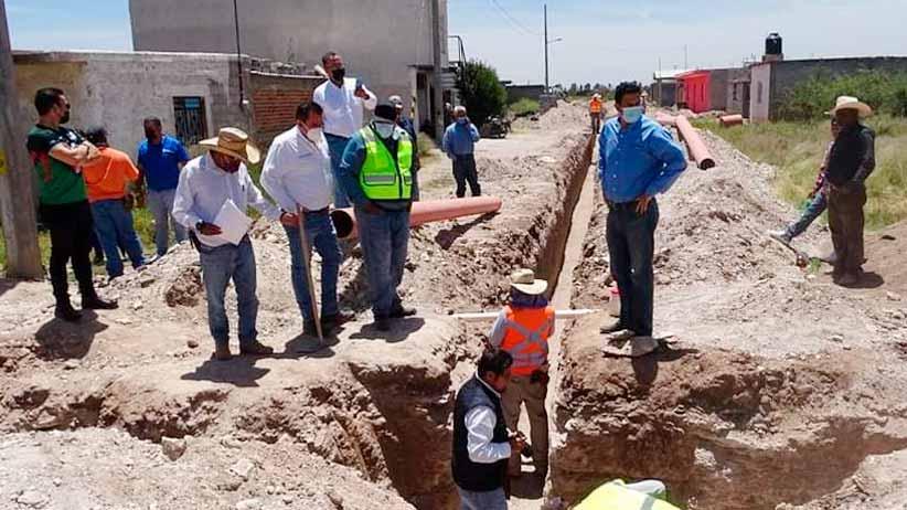 Lleva Gobierno de Zacatecas obras de agua y alcantarillado a Vetagrande y Calera