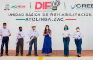 Entrega Presidenta del SEDIF nueva UBR en Atolinga