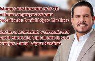 Estamos gestionando más 311 millones en proyectos para Ojocaliente: Daniel López Martínez (video)