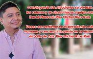 Deseo convertirme en el presidente más humano y cercano a la agente en la historia de Villa de Cos: Pier Michel Ríos Ruiz (video)