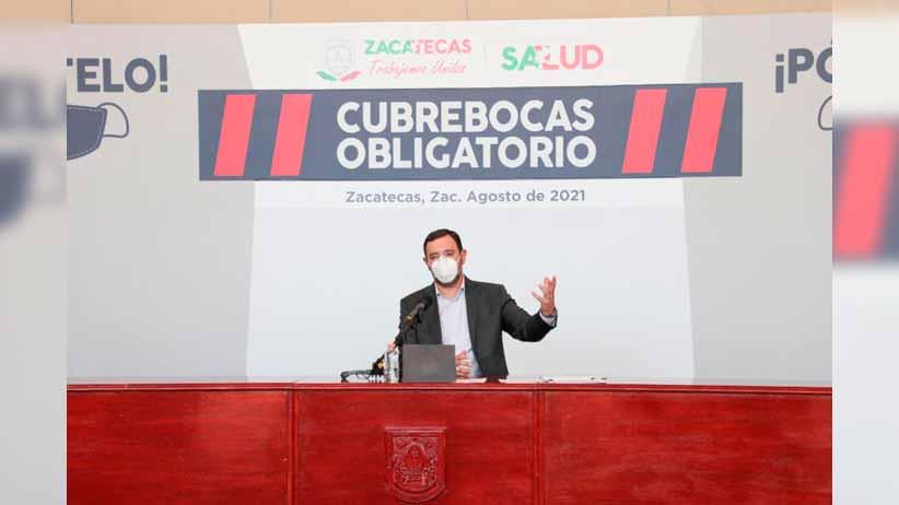 Zacatecas regresa a semáforo naranja por incremento de contagios de COVID-19