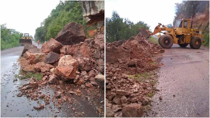 Atienden afectaciones en carreteras estatales tras lluvias recientes
