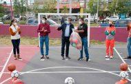 Entregan David Monreal y Julio César Chávez  canchas multideportivas a los guadalupenses