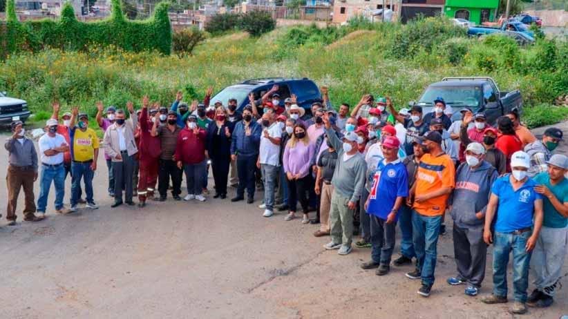 Celebra alcalde Jorge Miranda taquiza con trabajadores del departamento de recolección de basura; mejorara el servicio