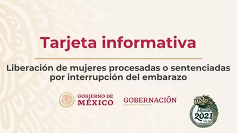 Liberación de mujeres procesadas o  sentenciadas por interrupción del embarazo