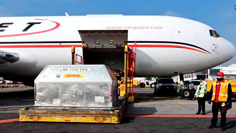 Llegan a México 551 mil 070 vacunas envasadas de Pfizer-BioNTech