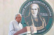 En Jojutla, presidente destaca la vigencia de postulados del Siervo de la Nación