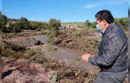 Gobernador David Monreal atiende oportunamente a afectados por lluvias en Genaro Codina; emprende plan de reactivación