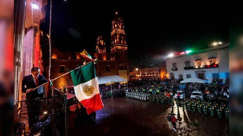 """""""¡VIVA ZACATECAS!, ¡VIVA MÉXICO!"""", emite el Gobernador David Monreal en la conmemoración del Grito de Independencia"""