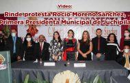 Rinde protesta Rocío Moreno Sánchez, Primera Presidenta Municipal de Juchipila (video)
