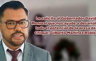 Le solicito al Gobernador David Monreal que nos ayude a desarrollar todo el potencial de la presa del Chique: Gilberto Martínez Robles (Video)
