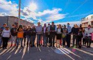 El gobierno municipal invierte en pavimentación en calles de la zona norte