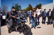 Recibe Jorge Miranda Castro patrullas y motocicletas para la DSP capitalina