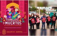 Anuncia alcalde Jorge Miranda regreso del tianguis de día de muertos a la Colonia Tres Cruces