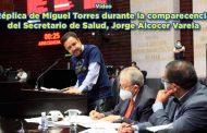 Réplica de Miguel Torres durante la comparecencia del Secretario de Salud, Jorge Alcocer Varela