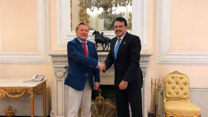 Se reúne Femat con el embajador de Rusia